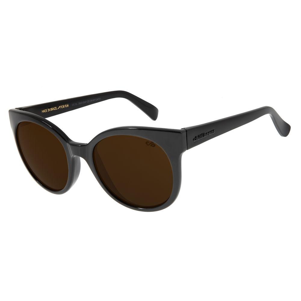 Óculos de Sol Feminino Chilli Beans Redondo Marrom Escuro OC.CL.2643-0247