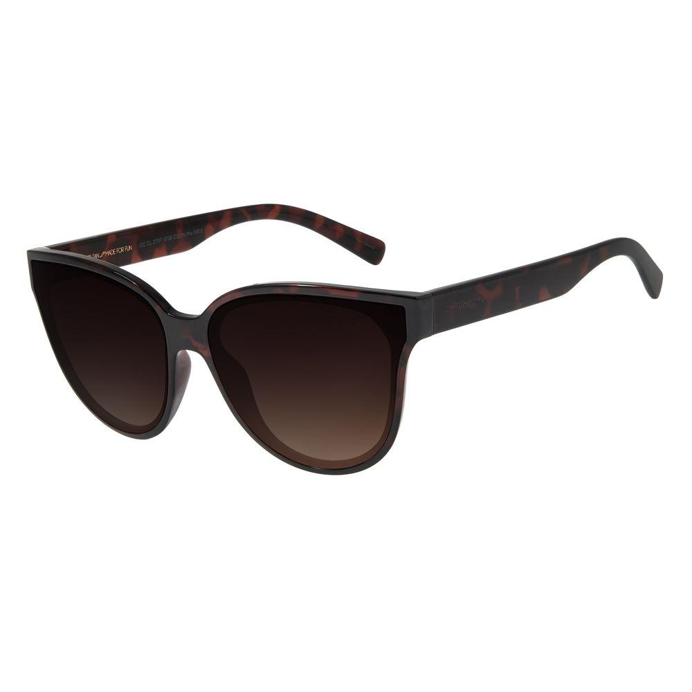 Óculos de Sol Feminino Chilli Beans Redondo Cristal Brilho Tartaruga OC.CL.2707-5706