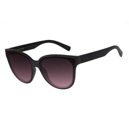 Óculos de Sol Feminino Chilli Beans Redondo Cristal Brilho Preto OC.CL.2707-2001