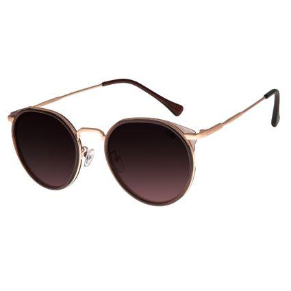 Óculos de Sol Feminino Chilli Beans Redondo Vinho OC.CL.2866-2017