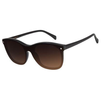 Óculos de Sol Feminino Chilli Beans Quadrado Marrom Escuro OC.CL.2881-5747