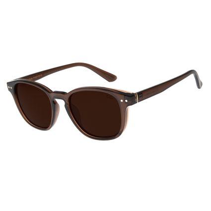 Óculos de Sol Masculino Chilli Beans Bossa Nova Marrom Polarizado OC.CL.2901-0202