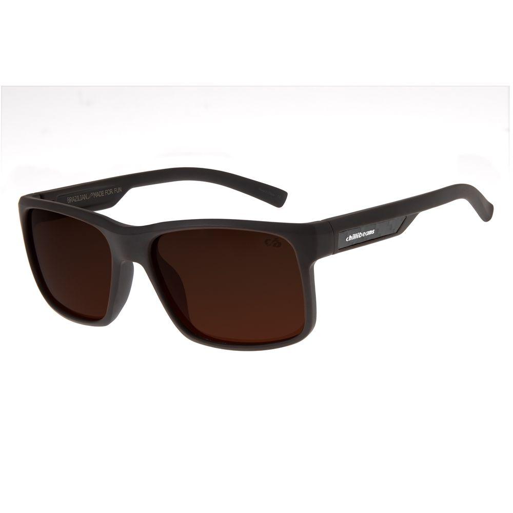 Óculos de Sol Masculino Chilli Beans New Sport Marrom Polarizado OC.ES.1203-0202