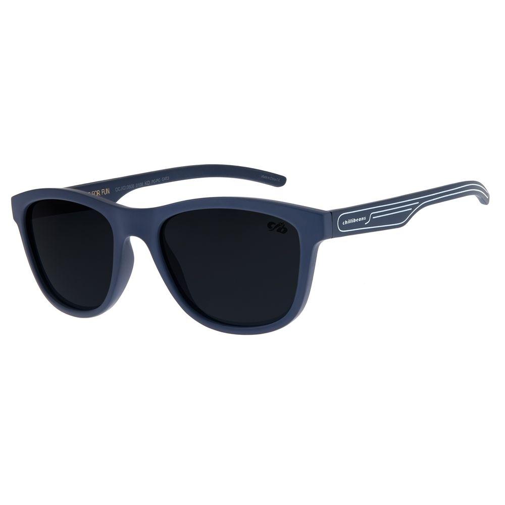 Óculos de Sol Infantil Chilli Beans Quadrado Azul OC.KD.0608-0108