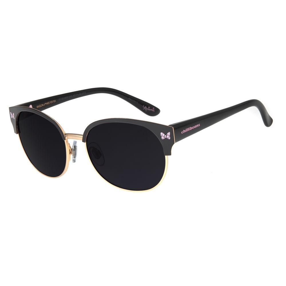 Óculos de Sol Infantil Chilli Beans Disney Minnie Preto OC.KD.0628-0101