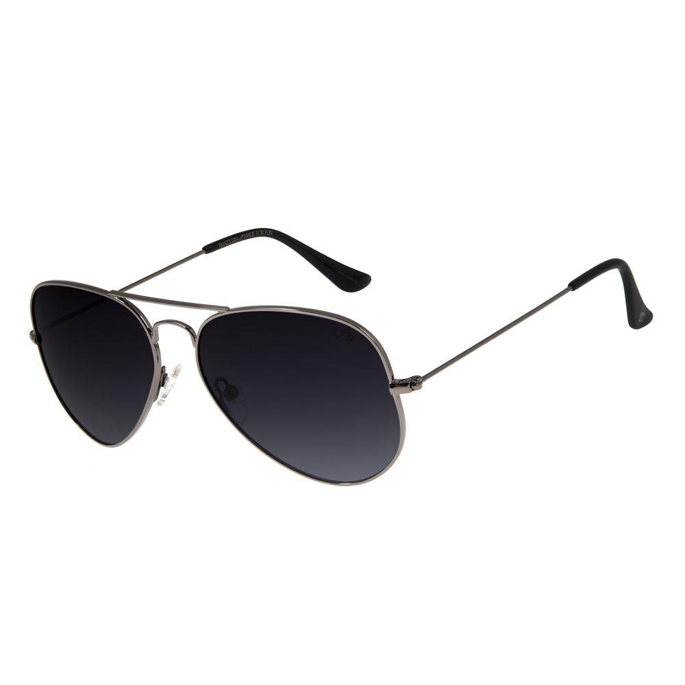 Óculos de Sol Unissex Chilli Beans Aviador Polarizado Ônix OC.MT.2514-2022