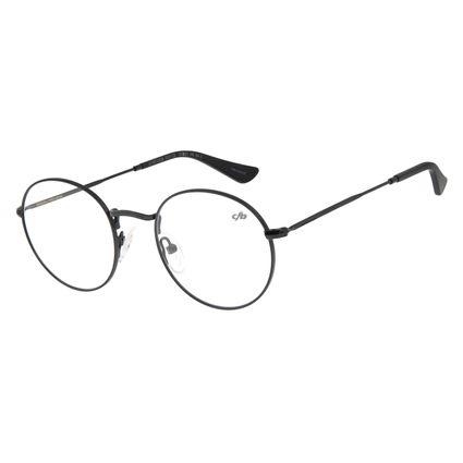 Armação Para Óculos de Grau Unissex Chilli Beans Redondo Preto LV.MT.0338-0101