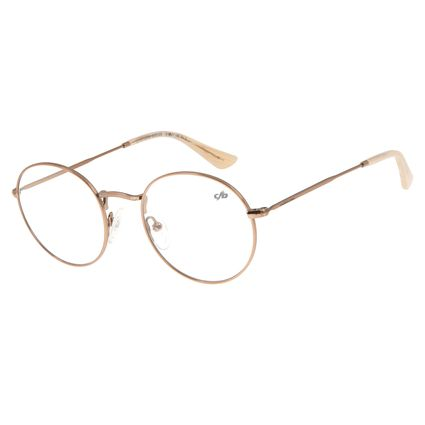Armação Para Óculos de Grau Unissex Chilli Beans Redondo Marrom LV.MT.0338-0202