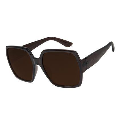 Óculos de Sol Feminino Chilli Beans Oversized Quadrado Marrom OC.CL.2851-0247
