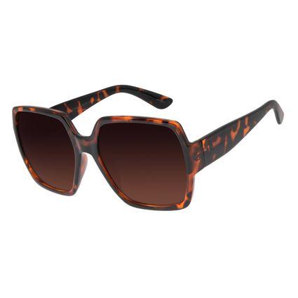 Óculos de Sol Feminino Chilli Beans Oversized Quadrado Tartaruga OC.CL.2851-5706