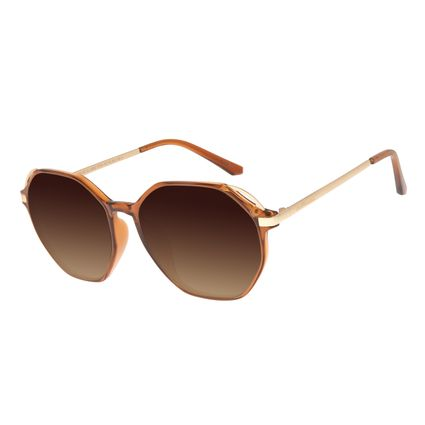 Óculos de Sol Feminino Chilli Beans Redondo Amarelo OC.CL.2852-5709