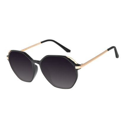 Óculos de Sol Feminino Chilli Beans Redondo Preto OC.CL.2852-2001