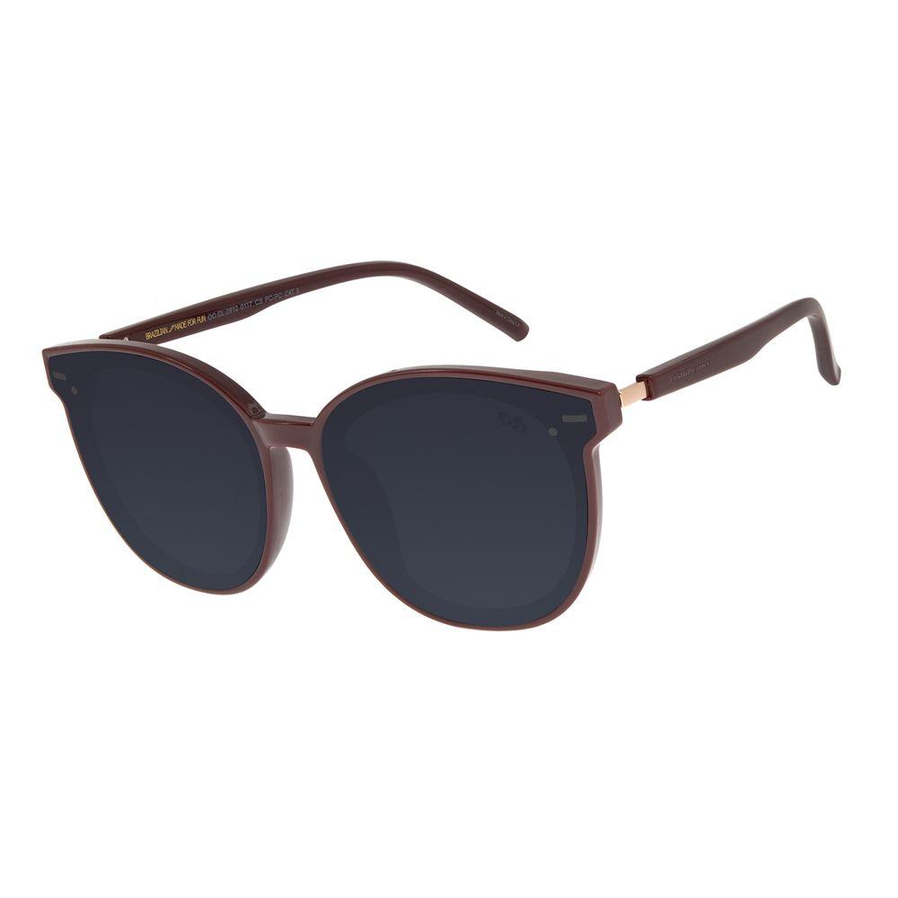 Óculos de Sol Feminino Chilli Beans Quadrado Vinho OC.CL.2912-0117