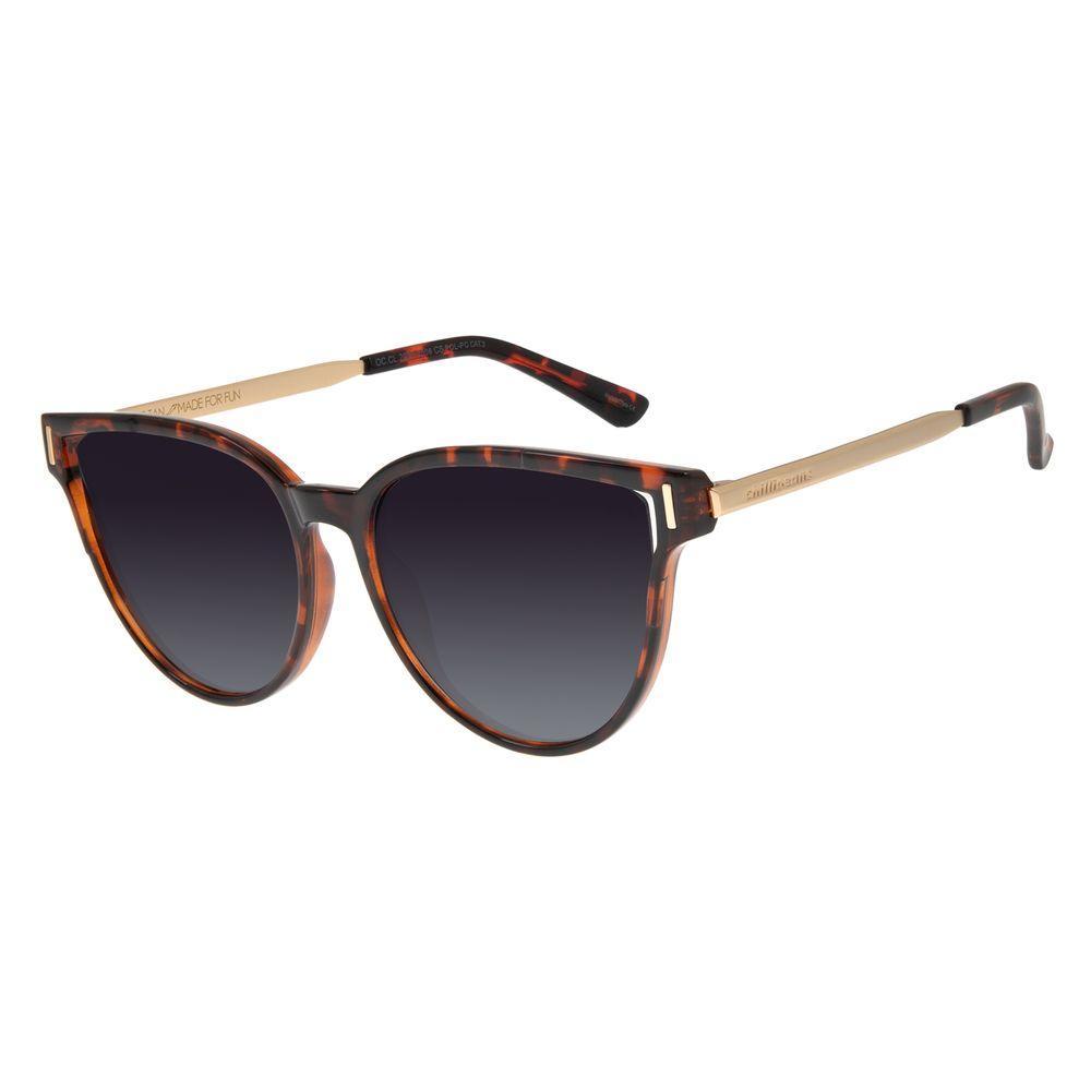 Óculos de Sol Feminino Chilli Beans Quadrado Tartaruga Polarizado OC.CL.2920-2006