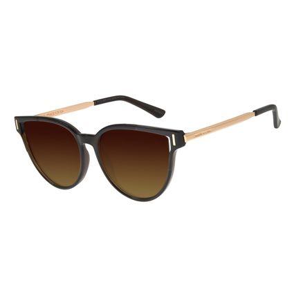 Óculos de Sol Feminino Chilli Beans Quadrado Marrom Polarizado OC.CL.2920-5702