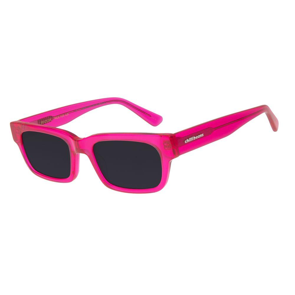Óculos de Sol Feminino Chilli Beans Quadrado Cristal Rosa OC.CL.2929-0513