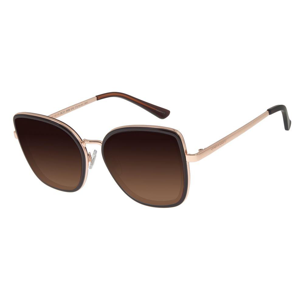Óculos de Sol Feminino Chilli Beans Quadrado Marrom OC.CL.2938-5702