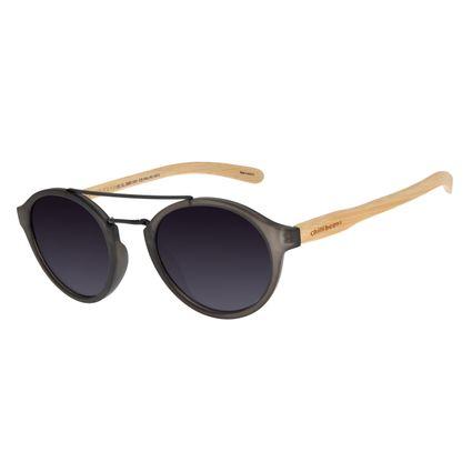 Óculos de Sol Unissex Chilli Beans Redondo Bamboo Degradê OC.CL.2985-2001