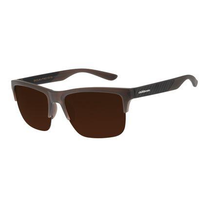 Óculos de Sol Masculino Chilli Beans Esportivo Fibra de Carbono Marrom OC.ES.1208-0202