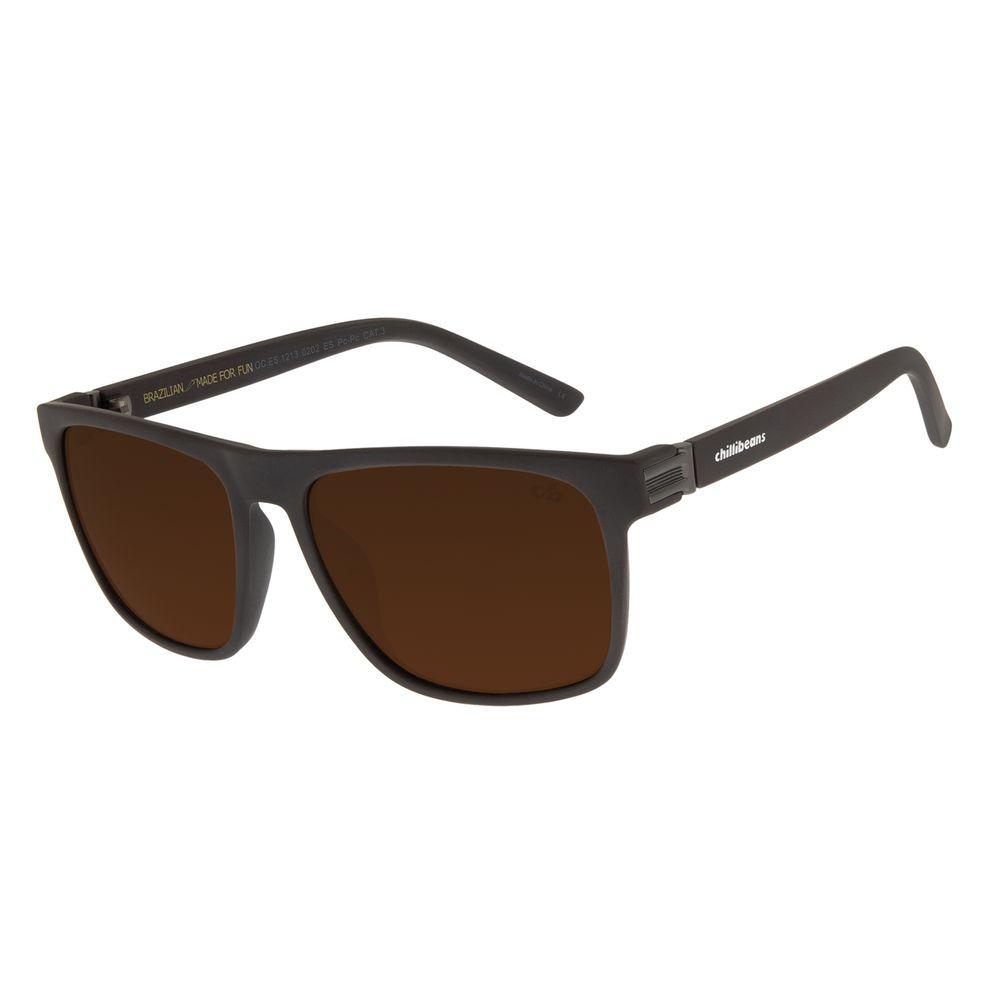 Óculos De Sol Masculino Chilli Beans New Sport Marrom OC.ES.1213-0202