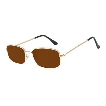 Óculos De Sol Masculino Chilli Beans Quadrado Metal Dourada OC.MT.2597-0221