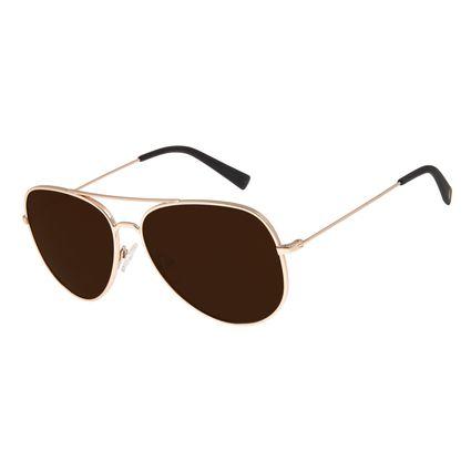 Óculos de Sol Unissex Chilli Beans Aviador Dourada OC.MT.2700-0221