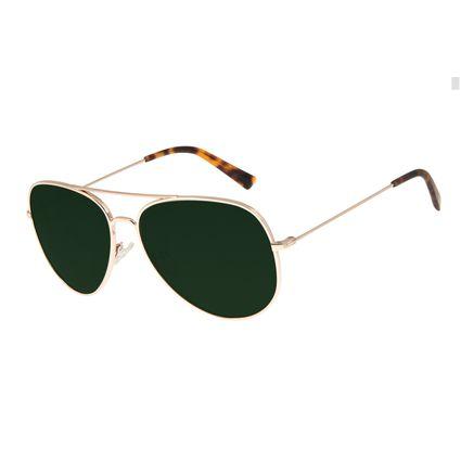 Óculos de Sol Unissex Chilli Beans Aviador Verde OC.MT.2700-1521
