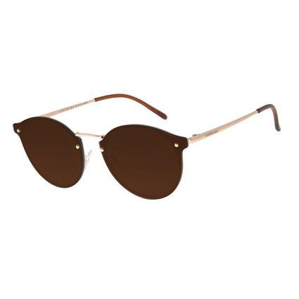 Óculos De Sol Feminino Chilli Beans Redondo Metal Dourado OC.MT.2730-0221