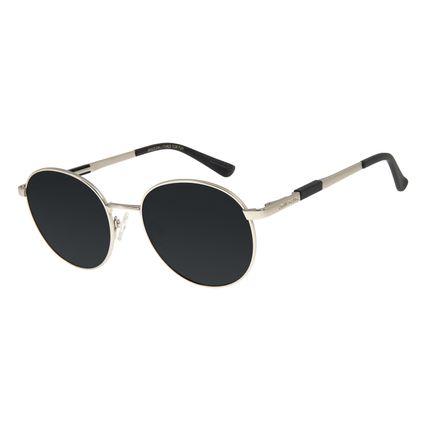 Óculos de Sol Unissex Chilli Beans Redondo Polarizado Prata OC.MT.2737-0107