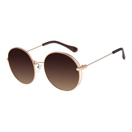 Óculos De Sol Feminino Chilli Beans Redondo Metal Rosê OC.MT.2758-5795