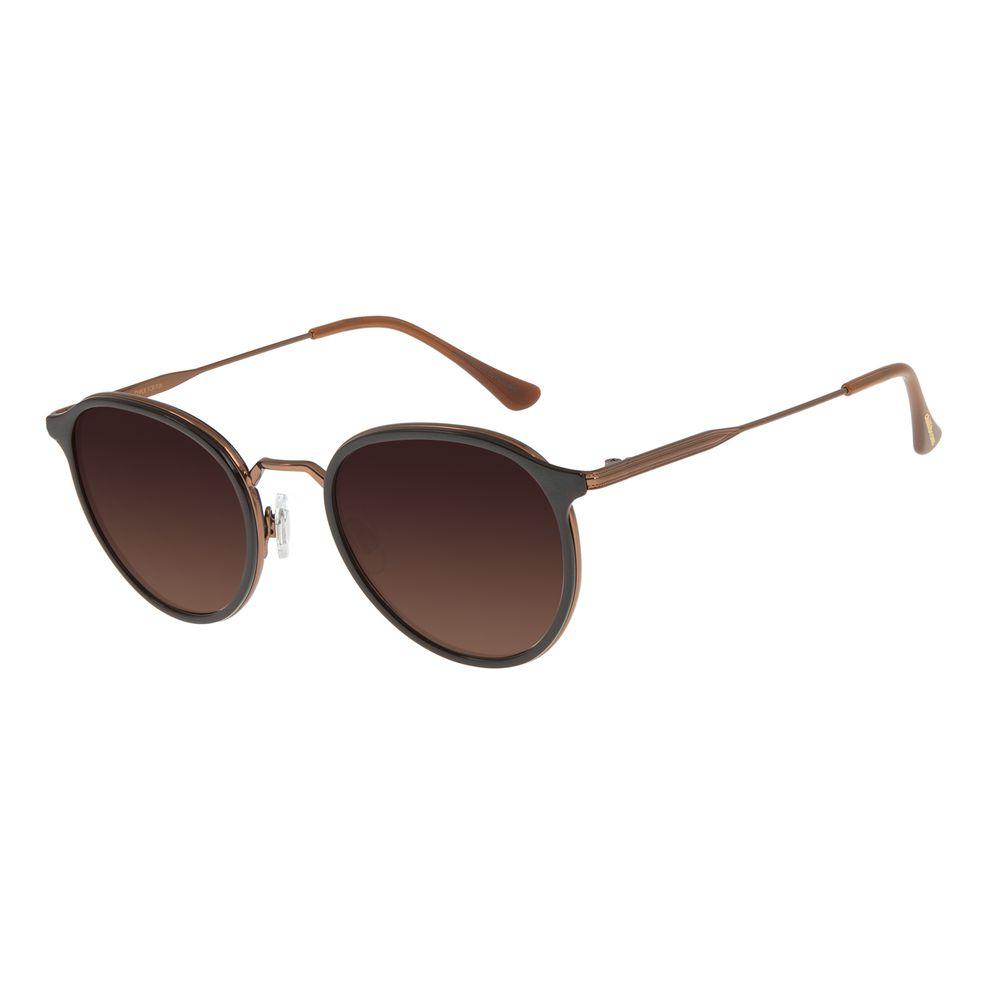 Óculos de Sol Feminino Chilli Beans Redondo Marrom OC.MT.2760-5702