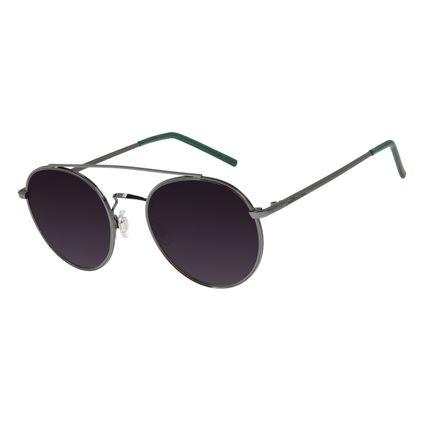 Óculos De Sol Feminino Chilli Beans Redondo Metal Ônix OC.MT.2761-2022