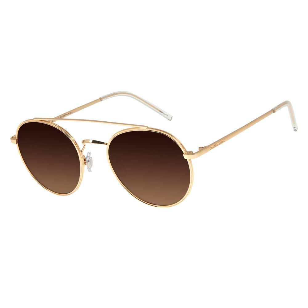 Óculos De Sol Feminino Chilli Beans Redondo Metal Dourado OC.MT.2761-5721