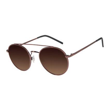 Óculos De Sol Feminino Chilli Beans Redondo Metal Rosê OC.MT.2761-5795