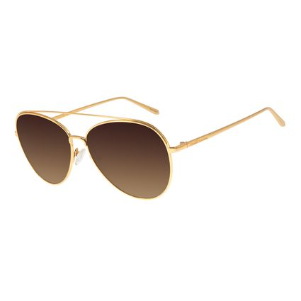 Óculos De Sol Unissex Chilli Beans Banhado A Ouro Dourado OC.MT.2763-5721