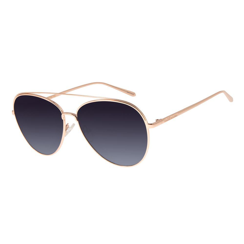 Óculos De Sol Unissex Chilli Beans Banhado A Ouro Rosê OC.MT.2763-2095