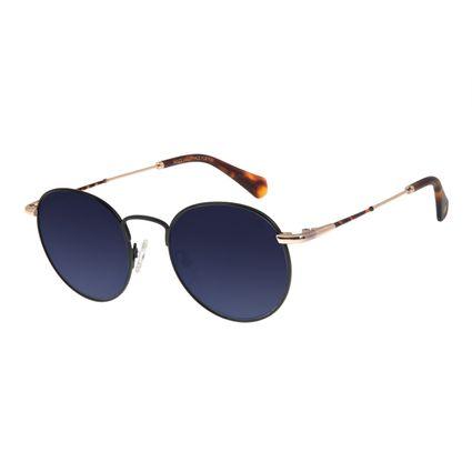 Óculos De Sol Unissex Chilli Beans Redondo Metal Preto OC.MT.2775-2001