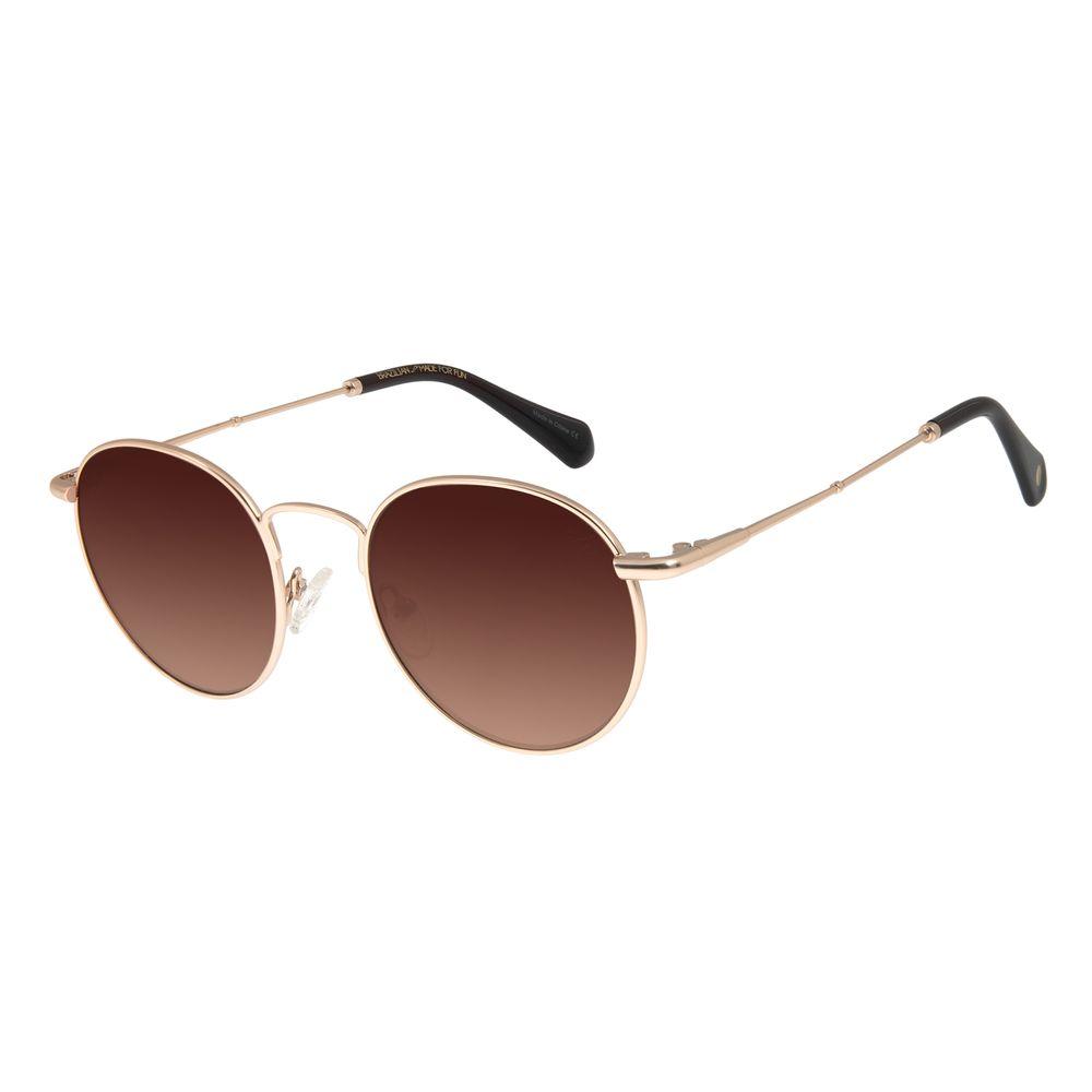 Óculos De Sol Unissex Chilli Beans Redondo Metal Dourado OC.MT.2775-5721