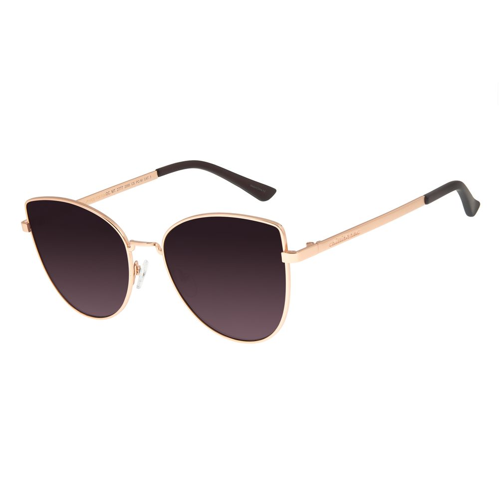 Óculos De Sol Feminino Chilli Beans Gatinho Metal Rosê OC.MT.2777-2095