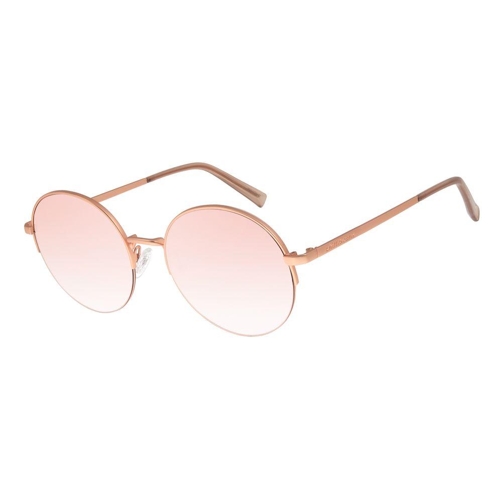 Óculos De Sol Feminino Chilli Beans Banhado A Ouro Gold Rosê OC.MT.2782-9595