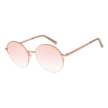 Óculos De Sol Feminino Chilli Beans Banhado A Ouro Gold Rosé OC.MT.2782-9595