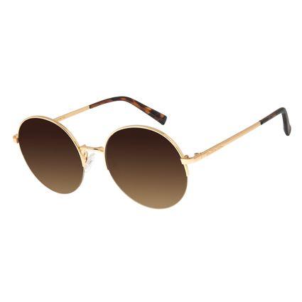 Óculos De Sol Feminino Chilli Beans Banhado A Ouro Degradê Marrom OC.MT.2782-5721