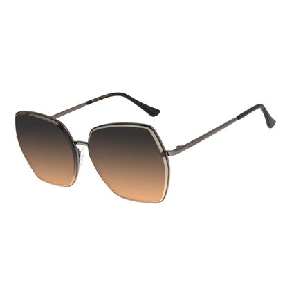 Óculos De Sol Feminino Chilli Beans Quadrado Fashion Ônix OC.MT.2783-2022