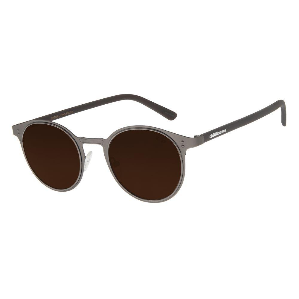 Óculos De Sol Unissex Chilli Beans Redondo Ônix OC.MT.2785-0222