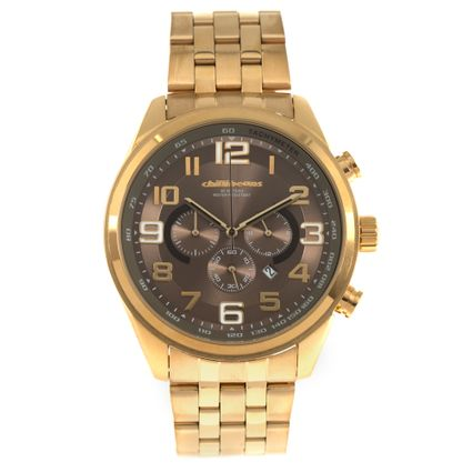 Relógio Analógico Masculino Chilli Beans Metal Dourado RE.MT.0934-0221