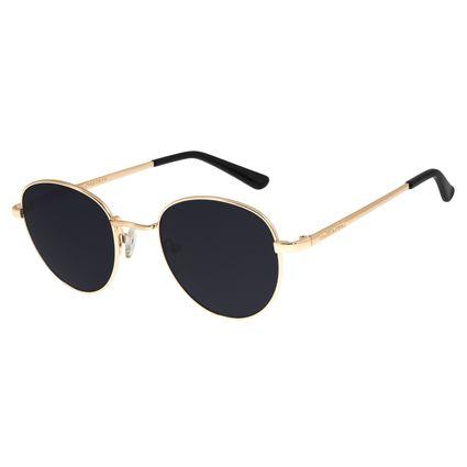 Óculos De Sol Chilli Beans Unissex Redondo Dourado OC.MT.2517-0121