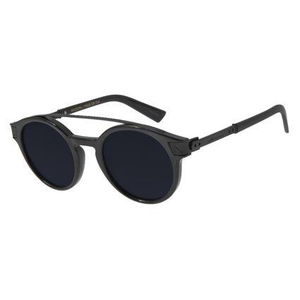 Óculos de Sol Unissex Alok Double Bridge Redondo Preto OC.CL.2956-0501