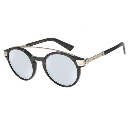 Óculos de Sol Unissex Alok Double Bridge Redondo Espelhado OC.CL.2956-3222