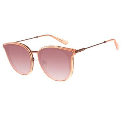 Óculos de Sol Feminino Chilli Beans Alok Quadrado Bege OC.CL.2959-2023