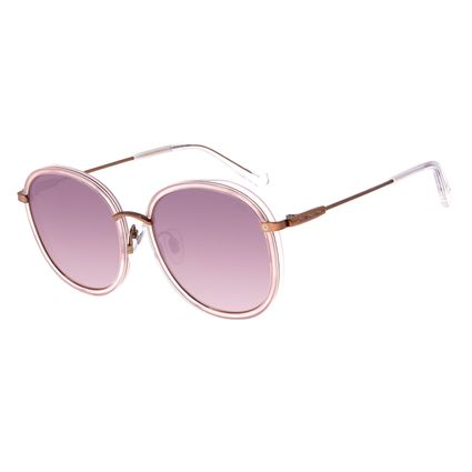 Óculos de Sol Feminino Chilli Beans Alok Transparent Line Redondo Branco OC.CL.2960-3219